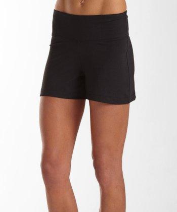 Black Sanded Dry-Wik Skirt - Women