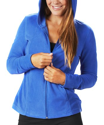 Dazzling Blue Fleece Zip-Up Hoodie