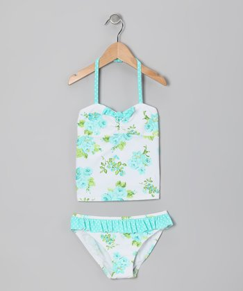 Mint Rose Tankini - Girls