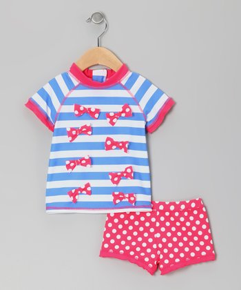 Blue & Red Rashguard Set - Infant