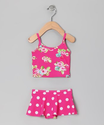 Pink Rose Skirted Bikini - Infant