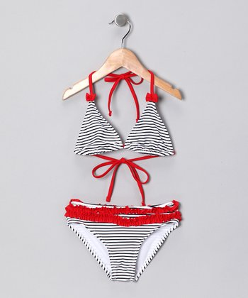 Navy Stripe Bikini - Toddler & Girls