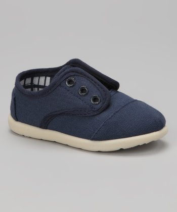 Navy Aaron Slip-On Sneaker