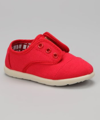 Red Aaron Slip-On Sneaker