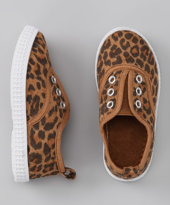 Tan & Brown Leopard Slip-On Sneaker