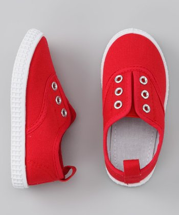 Red Slip-On Sneaker