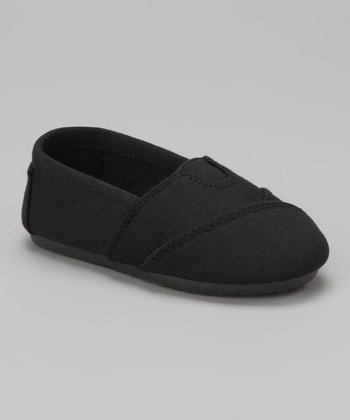 Black Wrapped Panel Canvas Slip-On Shoe