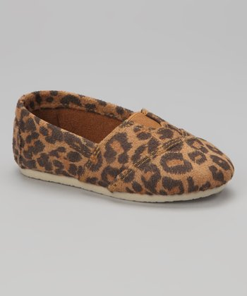 Black & Beige Leopard Wrapped Panel Flat