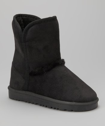 Black Cozy Boot