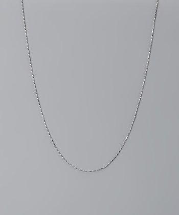 Sterling Silver 20'' Diamond-Cut Twisted Chain Necklace