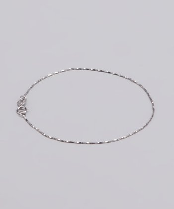 Sterling Silver Diamond-Cut Chain Bracelet