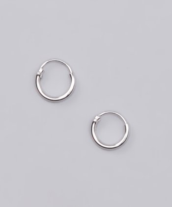 Sterling Silver Petite Hoop Earrings