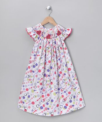 Red Polka Dot Angel-Sleeve Dress - Infant, Toddler & Girls