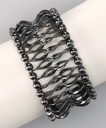 Hematite Twist Stretch Bracelet