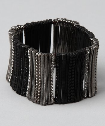 Black & Silver Stretch Bracelet