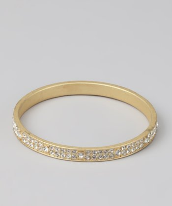 Gold Crystalized Bangle