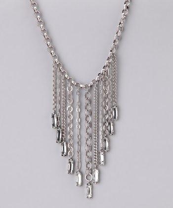 Silver Shimmer Chain Necklace