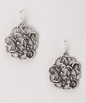 Antique Silver Tangle Drop Earrings
