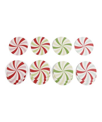 Wonderland Peppermint Coaster - Set of 48