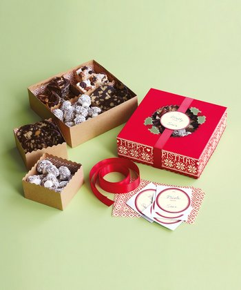 Cottage Christmas Compartment Treat Box Kit - Set of Three