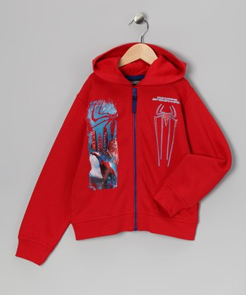 Marvel Red Spider-Man Zip-Up Hoodie - Toddler & Boys