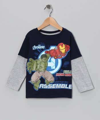 Navy 'Avengers' Layered Tee - Toddler