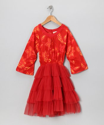 Tutu Cinnamon Floral Dress - Toddler & Girls