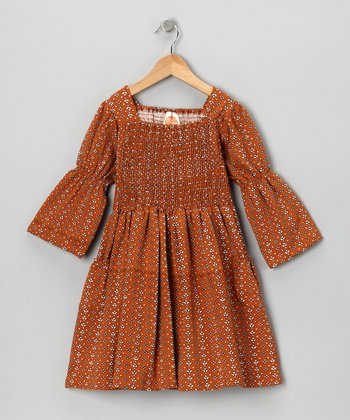 Rust Keri Jazz Dress - Toddler & Girls
