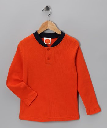 Orange Thermal - Toddler & Boys