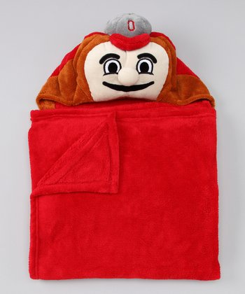 Ohio State Buckeyes Hooded Blanket