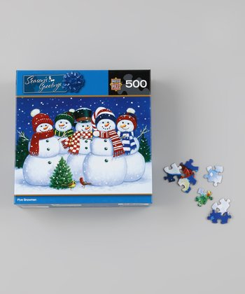 Masterpieces Five Snowmen Holiday Puzzle