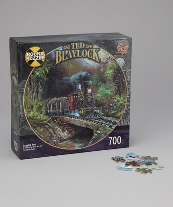Masterpieces Logging Run Railways Round Puzzle