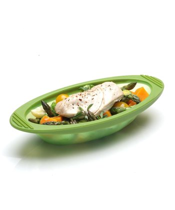 Green 20-Oz. Silicone Steam Cooker