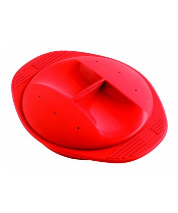 Red 27-Oz. Round Silicone Steam Cooker