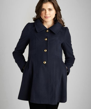 Navy Maternity Coat
