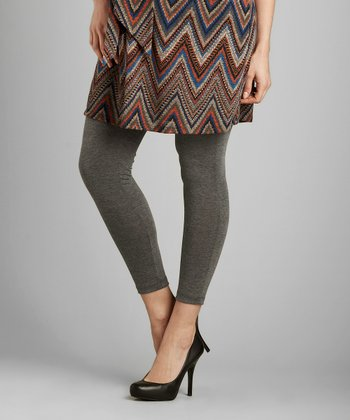 Heather Charcoal Under-Belly Maternity Leggings