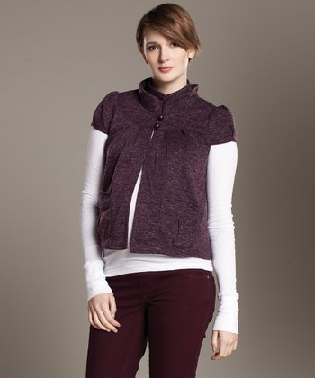 Maternal America Heather Plum Mandarin Maternity Jacket