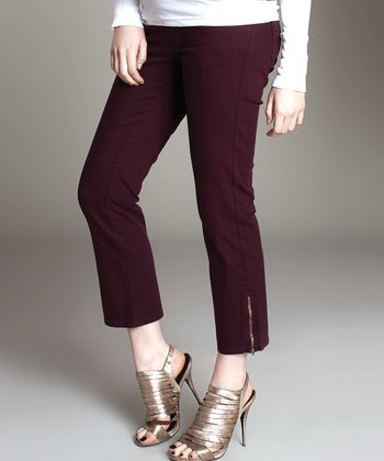 Plum Under-Belly Maternity Jeans