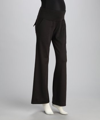 Black Classic Maternity Trouser Pants