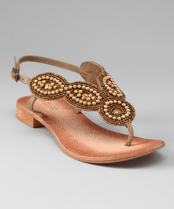 Tan Boerne Beaded Sandal
