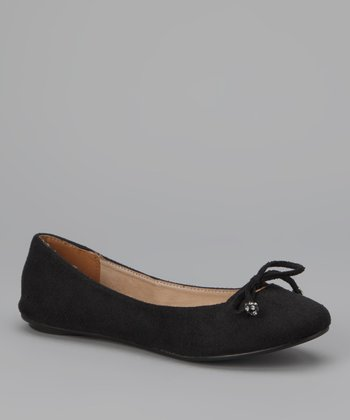 Black Kayla Bow Flat