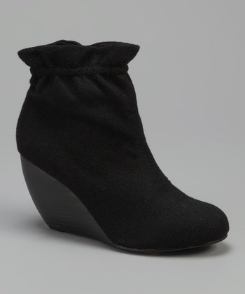 Black Paterson Wedge Bootie