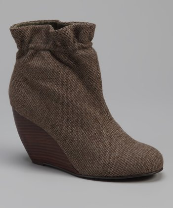 Brown Paterson Wedge Bootie