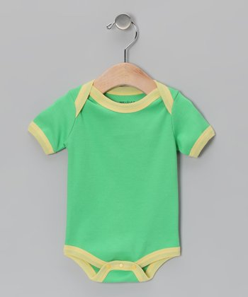 Green & Yellow Organic Bodysuit