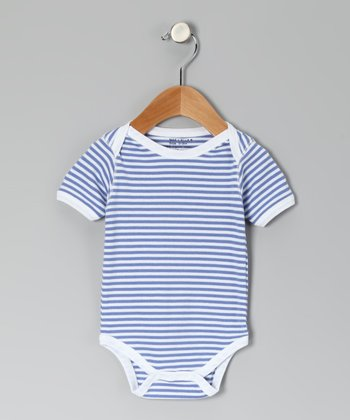 Lilac & White Stripe Organic Bodysuit - Infant