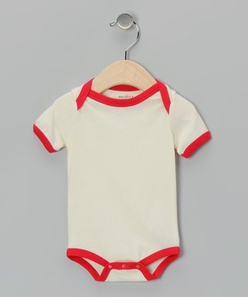 Natural & Red Organic Bodysuit - Infant