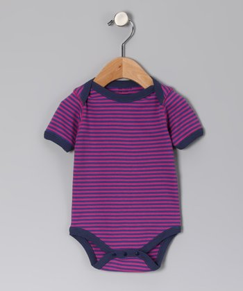 Pink & Purple Stripe Organic Bodysuit - Infant