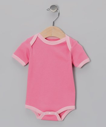 Salmon & Pink Organic Bodysuit - Infant