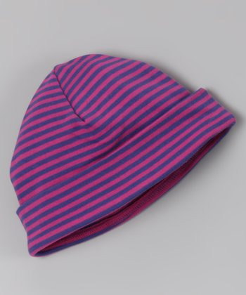 Pink & Purple Stripe Organic Beanie