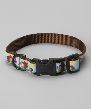 Blue Hedgehog Dog Collar